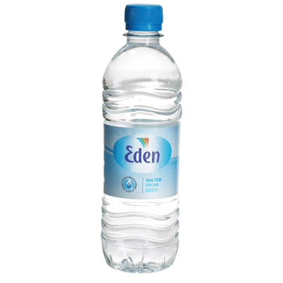 Eden-vatten på flaska private label