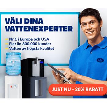 20% rabatt på alla våra vattenautomater
